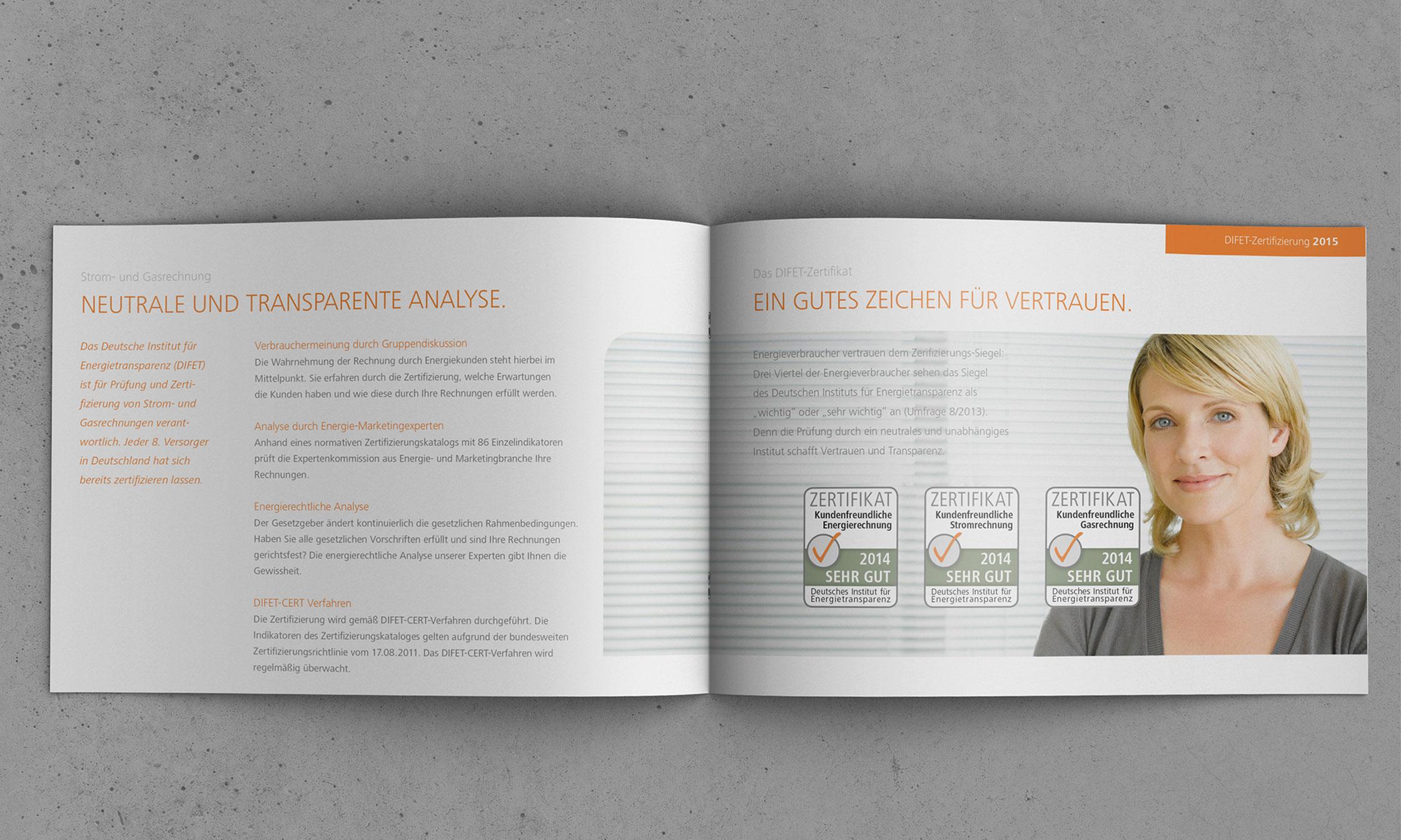 Unternehmensbroschüre © drehphase brand & design communication, Florian Dreher