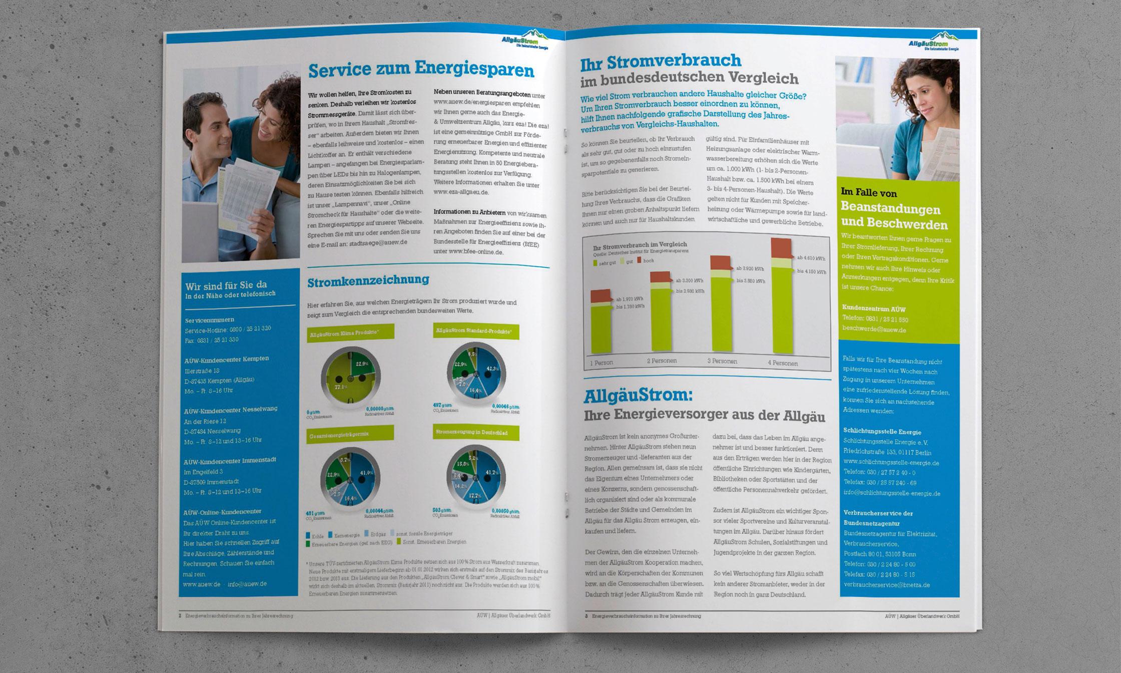 Kundenfreundlicher Rechnungsbeileger Folgeseiten © drehphase brand & design communication, Florian Dreher